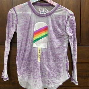 Kids Chaser Brand Burn Out Long Sleeve Tee Size 8